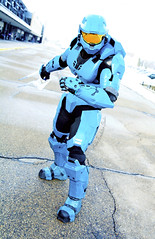 Red vs Blue Tucker (Arctic Revolution Studios) Tags: blue red comic cosplay teal chief halo arctic suit master madison armor revolution sword vs reach studios tucker con spartan covenant 2015 cortana