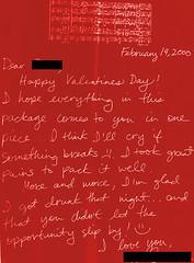 drunk ops (JasonLee) Tags: drunk found roommates valentine letter valentines correspondence stvalentine lovenote valentinescard vanentinesday happyvalentinesday mashnote bmine foundcorrespondence sociallubricant loveatfirstdrink alcoholassisted daterapey imaloverandadrinker foundlovenotes