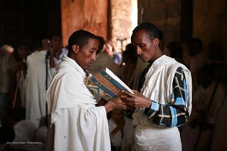 Intérieur de l'église ( Debra Selassié a Gondar )