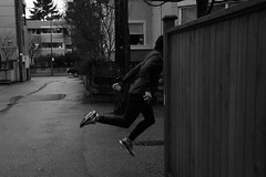 [#levitology] Turn the corner (kurichan+) Tags: nikon selfportraits levitation yvr levitate d90 levitology
