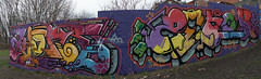 Klone / Zenor, Panorama (tombomb20) Tags: park street streetart art wall graffiti paint tag leeds spray hyde lettering graff klone 2061 rosebank tfa 2015 zenor tombomb20 zenor2061 klonism