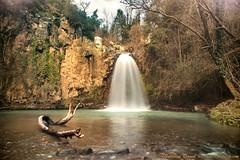 Cascata del pellico (84billy) Tags: blue sky tree verde green water rock alberi waterfall rocks italia blu canino roccia rocce acqua tronco vt lazio cascata cileo tuscia