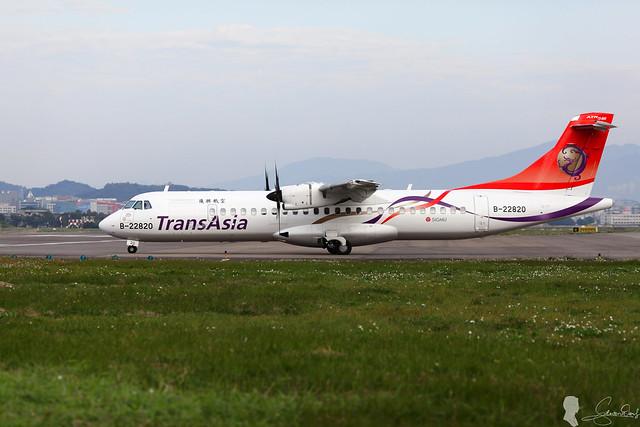 復興航空 TransAsia ATR-72-600 B-22820