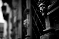 Dtail, Maison des Ttes, Colmar, France (Etienne Ehret) Tags: street travel bw white black france architecture canon 50mm noir mark iii colmar adventure alsace 5d maison rue blanc tte noirblanc f12 sriel