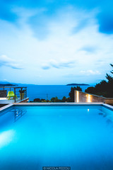 No interruptions (Nicola Pezzoli) Tags: travel sea summer water architecture island lights evening king apartments cloudy horizon resort swimmingpool greece luxury skiathos golde