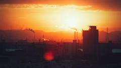 Sunset at Nagoya Port   (Jon-F, themachine) Tags: sunset sun japan asian asia olympus nagoya  nippon japo oriental orient minatoku fareast  aichi  nihon omd   chubu japn  2016   portofnagoya m43  mft   nagoyaport  minatoward  mirrorless  chuubu    micro43 microfourthirds  ft xapn jonfu  mirrorlesscamera snapseed   em5ii em5markii