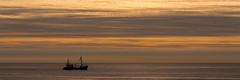Fishingboat (Aschwinn) Tags: clouds noordzee wolken zee northsea vissersboot 2016 pannorama