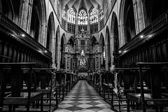 Cathdrale Saint-tienne de Toulouse. (Annamon) Tags: cathedral sainttienne francia france blackandwhite canong7x powershot church wedding stone romanic gtico catolicismo bw lightroom