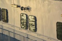 Reflets (Dorian Duplex) Tags: voyage mer ferry port soleil corse peinture reflet ciel maritime cote bateau paysage navigation controle signe symbole vitesse geometrie ecume coque navire manoeuvre traverse carene commande commandant sillage arseille