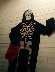 Some girls like to play dress up. (luvehorror) Tags: halloween trickortreat skeletons everydayishalloween skeletonsinthecloset idobelieveinspooks oldhalloween antiquehalloween vintagehalloweencostumes