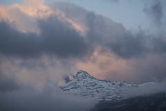 Toblerone of Norway (lunat1k) Tags: travel light sunset mountain snow nature norway clouds spring outdoor peak matterhorn toblerone nordland