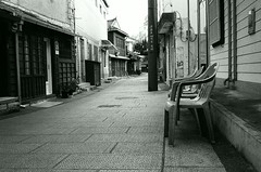 -  (Shoji Kawabata. a.k.a. strange_ojisan) Tags: street city white black film monochrome analog 35mm mono asia cityscape fuji streetphotography cityscapes delta s streetscene scene korea bn busan streetphoto 3200 ilford analogphotography bnw klasse eastasia  analogphoto