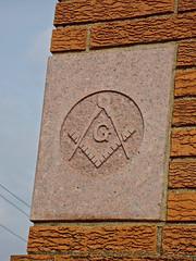 Masonic Temple, Chillicothe, MO (Robby Virus) Tags: temple symbol masonic missouri masons chillicothe fraternal organization 1959 freemasons afam
