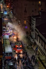 Action at night (karinavera) Tags: street travel urban argentina night fire calle buenosaires action police once bomberos firefighters policia balvanera caba azcuenaga nikond5300 22052016