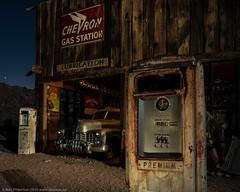 A Premium Offer (dejavue.us) Tags: longexposure nightphotography lightpainting nikon desert nevada fullmoon nikkor chevron gaspump mojavedesert d800 vle 180350mmf3545