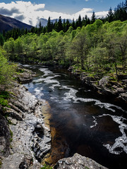 All Downhill... (vxisme.) Tags: water forest scotland highlands burns rivers glencoe streams glenorchy riverorchy