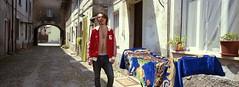 Igor (michele.cardano) Tags: street trip blue friends red holiday film home casa strada afternoon panoramic amici xpan viaggio amico pellicola