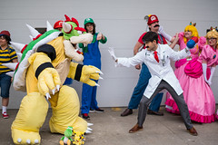 Dr. Mario vs Bowser (Sometimes Convention) Tags: game costume video smash cosplay character sony nintendo 8 mario u cube zelda 16 alpha bros bit a7 metroid cosplayers 16bit wii a7r a7rii a7r2