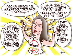 Raggi Co(s)mici (Moise-Creativo Galattico) Tags: roma virginia vignette satira raggi sindaco attualit moise giornalismo editoriali moiseditoriali editorialiafumetti m5s