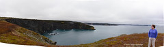 Baccalieu Trail Headland Pano (Trevdog67) Tags: ocean woman verde newfoundland bay high nikon looking pano trail wife nikkor overlooking stitched conception headland baccalieu 18300mm clff d7100