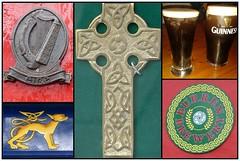 tyisch irisch- typical irish (Anke knipst) Tags: collage guinness kreuz keltisch celtic cross harp irland ireland