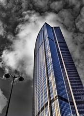 La Tour Montparnasse (tione76) Tags: tour montparnasse paris tione76 nikon d5300 noir blanc color couleur hdr building architecture contrastes hauteur nuages cloud ciel sky gratteciel extrieur btiment