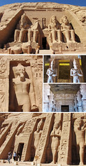 Abu Simbel Temple, Egypt (shaire productions) Tags: egyptandthenile contikiegypt image picture photo photograph collage shaireproductions sherriethaiphotos travel tour tourism exotic international trip traveler traveling vacation pictures egypt egyptian abusimbel statue pharoah kings temple aswan heritage cultural sight site culture