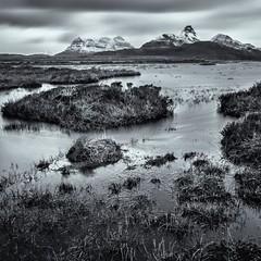 10 Stop Pollaidh Mono (amcgdesigns) Tags: blackandwhite snow monochrome square landscape mono scotland scottish stormy loch drama atmospheric stacpollaidh assynt silverefex 10stopfilter druimbadaghaill andrewmcgavin andrewmcgavin hitechprond
