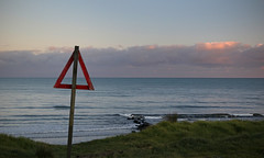 direction (Paul J's) Tags: sunset sea beach landscape tasmansea taranaki ohawe