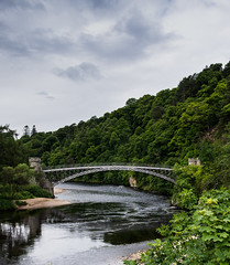 2016.07.03 Scotland-3 (kussmaul9) Tags: uk bridge trees water river scotland spey speyside