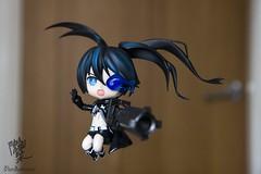 Black Rock Shooter!! (Pandakimmi) Tags: canon doll figure 1755 1755mm animefigure toyfigure nendoroid dollphoto figurephotography nendoroids canon600d blackrockshooter nendoroidphotography