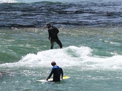 Calgary - Bow River - Standing wave surfers 3 (benlarhome) Tags: canada calgary water kayak surfer paddle surfing alberta bowriver standup peacebridge paddler