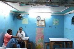 Their Way to Keep Sanity in a Crashing World (Mayank Austen Soofi) Tags: blue delhi walls khan chai atea walal