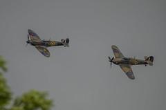 Spitfire & Hurricane from BBMF (John Freckelton) Tags: hurricane spitfire fairford riat totterdown internationalairtattoo riat2016