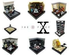 "The X-Files ""Vignette collage"" (markus19840420) Tags: lego alien contest vignette xfiles moc foxmulder danascully thelonegunmen aktex thesmokingman walterskinner imperiumdersteine"