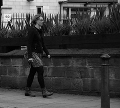 Lady in Leeds. (MAMF photography.) Tags: city uk greatbritain summer england blackandwhite bw blancoynegro blanco monochrome lady evening town blackwhite google nikon flickr noir noiretblanc zwartwit unitedkingdom britain yorkshire negro north leeds gb upnorth zwart pretoebranco schwarz biancoenero westyorkshire onthestreet googleimages northernengland enblancoynegro ls1 zwartenwit mamf inbiancoenero leedscitycentre schwarzundweis nikond7100 mamfphotography