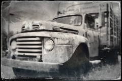 Tintype Musella Ford (Neal3K) Tags: bw georgia blackwhite rust tintype fordtruck vintagetruck musellaga hipstamatic