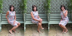 alone on the garden bench (susansmithtv) Tags: tv cd tgirl tranny transvestite crossdresser tg tgurl