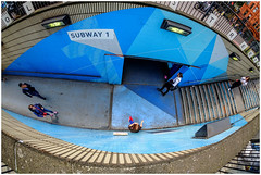 Subway 1... (kevingrieve610) Tags: samyang fisheye old street station london flickr wow perspective depth city cityscape pavement candid fujifilm