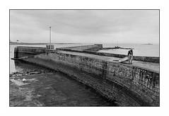 Lomener (Punkrocker*) Tags: sea people mer film port 35mm harbor nikon fishermen kodak trix bretagne nb 400 f2 nikkor morbihan sb 352 lomener bwfp prai