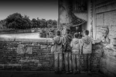 "[ kids on ""Ponte pietra"" ]  Verona (magdaebasta) Tags: bw kids canon bambini ponte verona adige stonebridge pontepietra eos100d"