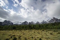 Larch Valley (ryan.kole32) Tags: travel trees canada green nature beauty clouds forest landscape rockies outdoors nationalpark hiking sony stormy bluesky alberta valley banff rockymountains larch moraine banffnationalpark morainelake canadianrockies banffalberta beautyinnature sonya77 larchvally