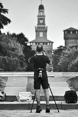 Front & Back (Ermanno Albano) Tags: street people milan blackwhite milano castellosforzesco