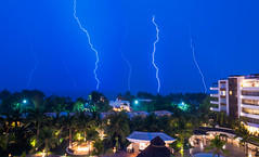 Sheer Power of Lightning (morozgrafix) Tags: sky storm weather night mexico nayarit nuevovallarta bahiadebanderas bolts thunderstorm lightning thunder 2fb