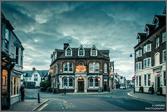 DUKE of CUMBERLAND (Kevin HARWIN) Tags: road uk blue windows red england orange house building public clouds canon lens eos kent pub doors britain path south duke east whitstable 1755mm cumbland