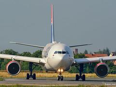 First flight to NYC (IvanB PG) Tags: plane airplane airport nikon serbia airbus belgrade nikolatesla planespotting a330200 belgradeairport d5200 bukvicivan