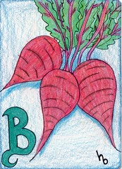 B is for Beets (Manurnakey) Tags: atc fruit vegetable alphabet handdrawn