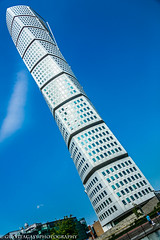 Turning Torso - MALMO SWEDEN (guyvitagasy) Tags: trip travel blue sky building tower beauty skyline photography cityscape sweden bluesky malm sude architercture