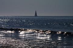 Belgian coast (Natali Antonovich) Tags: sea reflection nature water landscape boat northsea parallels belgiancoast