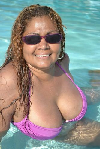 Raven (davidoforlando) Tags: braless bikini side boob